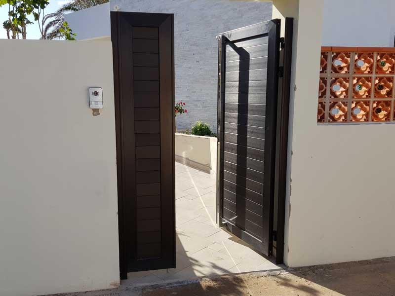 Aluminios Fuerterra fabricación de puertas de aluminio en Fuerteventura
